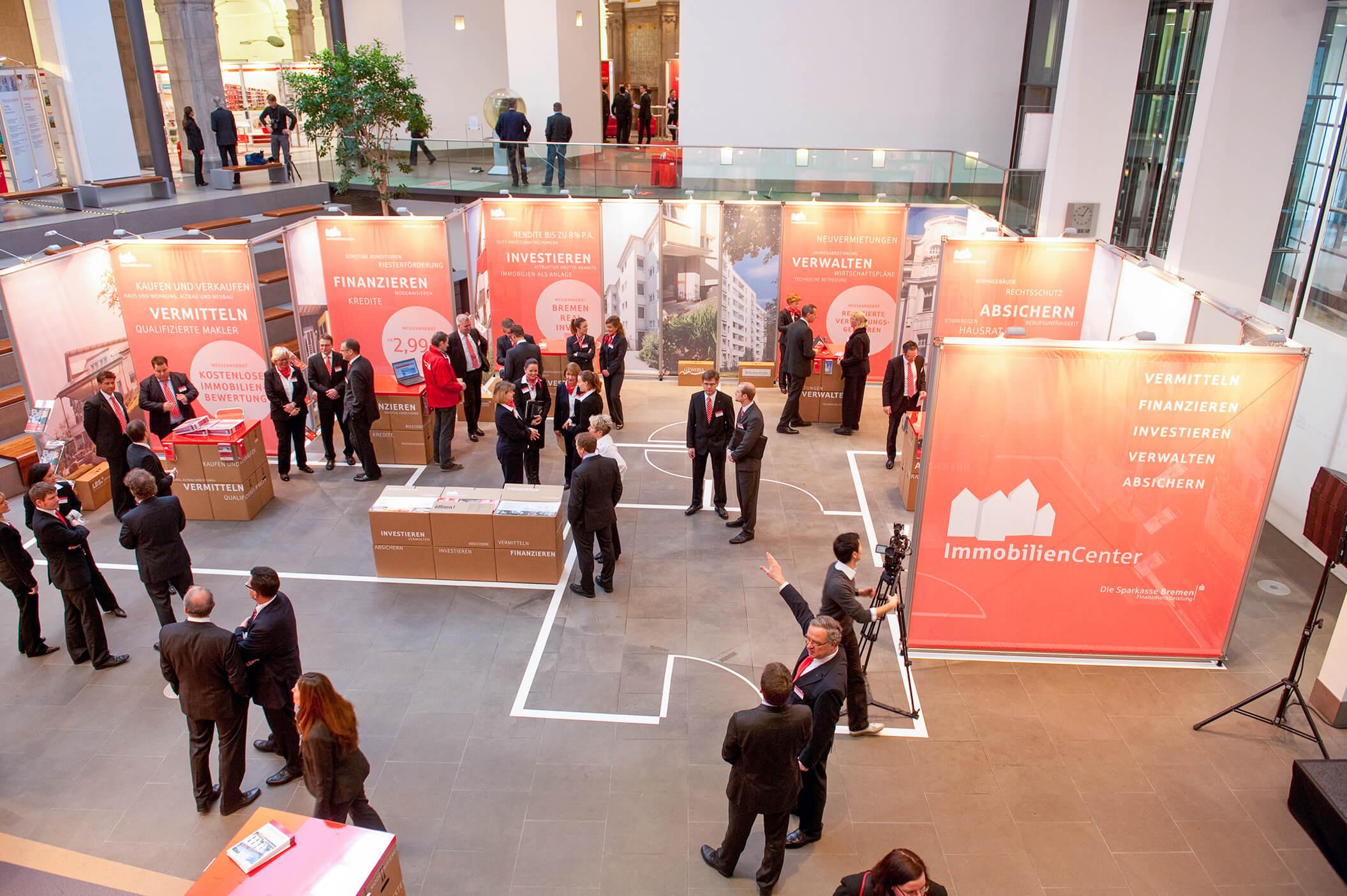 Anka Werbung - Messebau Bremen - Ausstellungen (Sparkasse Bremer Immobilientage 2012)