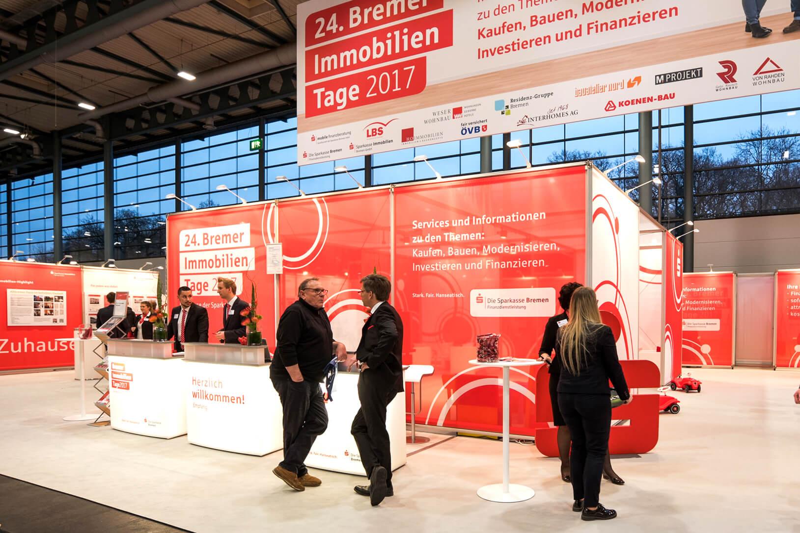 Anka Werbung - Messebau Bremen - Messebau (Sparkasse Bremer Immobilientage 2017)