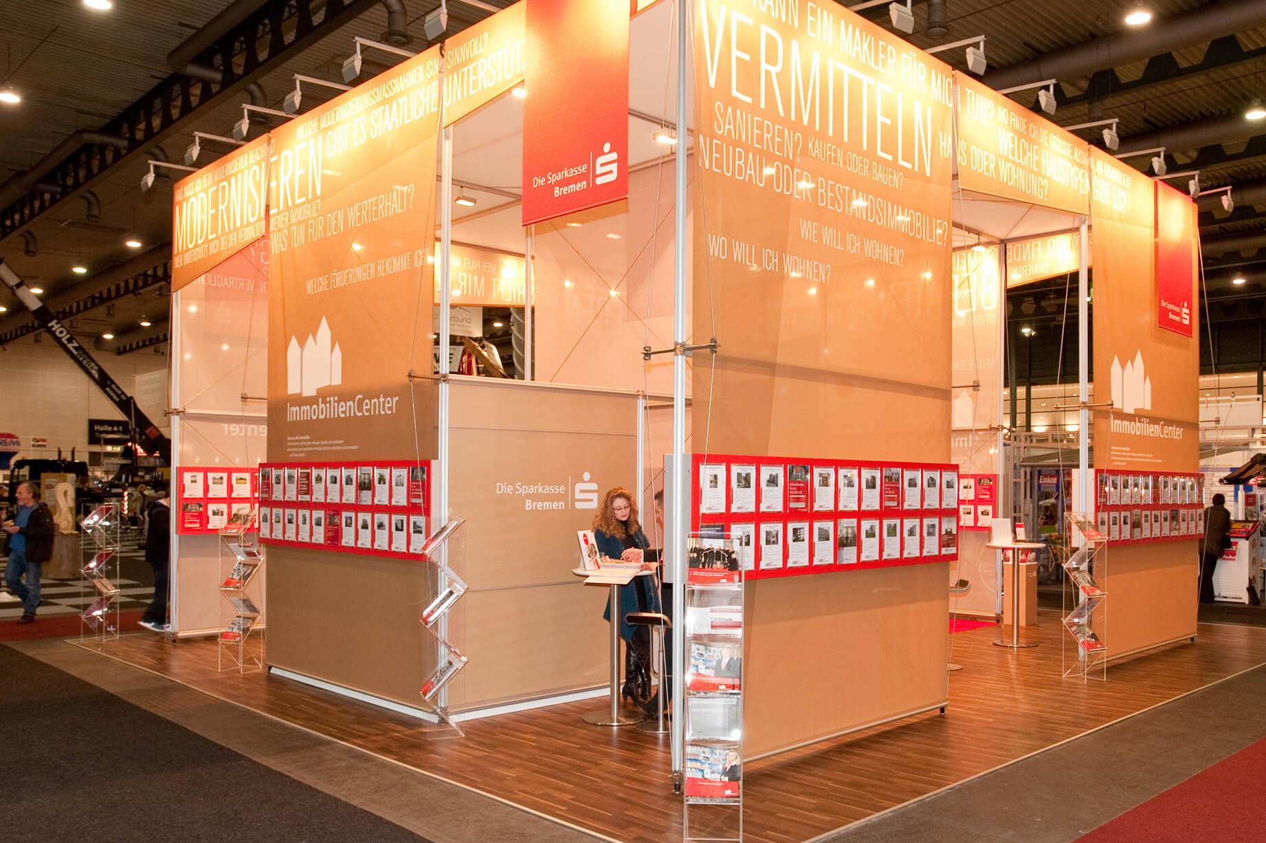 Anka Werbung - Messebau Bremen - Messebau (Sparkasse HanseBau)