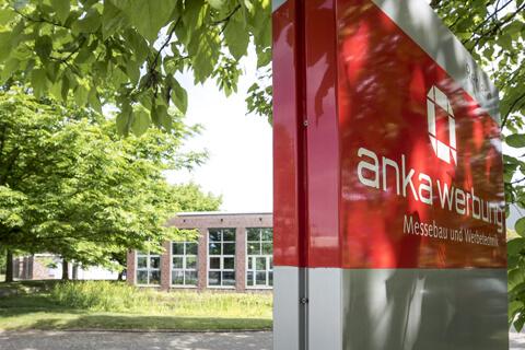 Anka Werbung - Messebau Bremen - Schild