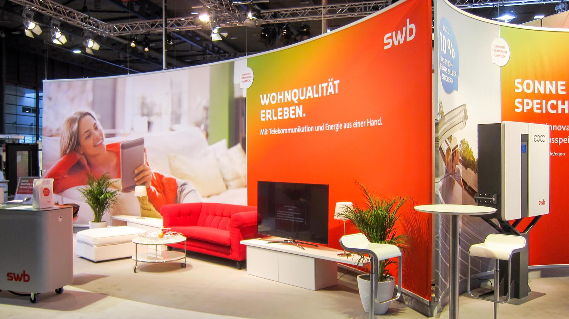 Anka Werbung - Messebau Bremen - Messebau (swb HanseBau 2016)