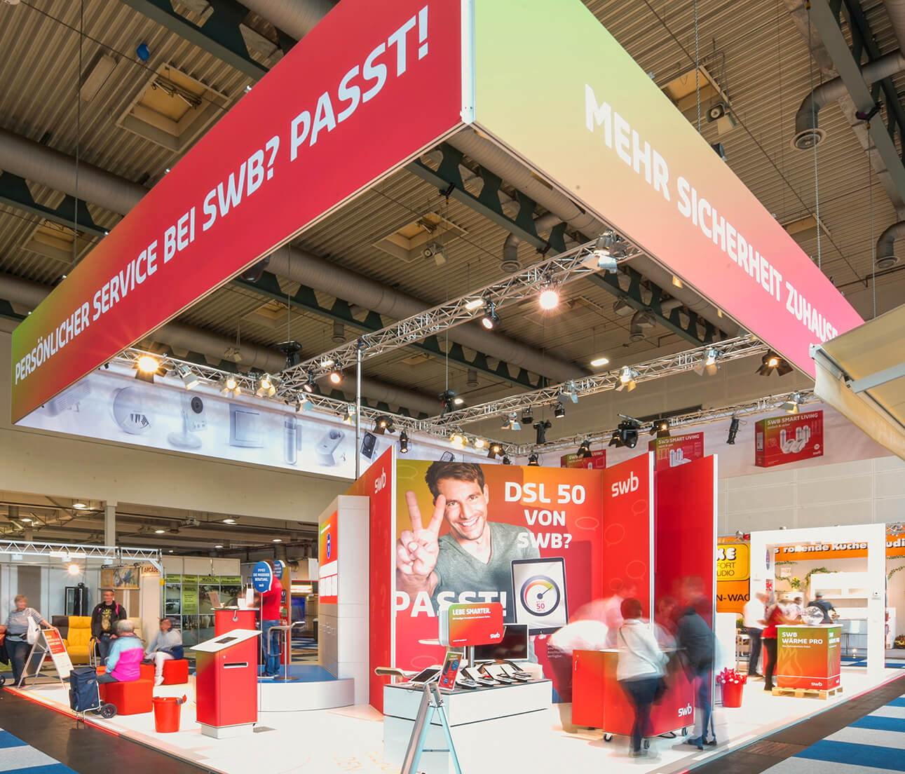 Anka Werbung - Messebau Bremen - swb Hanselife 2017