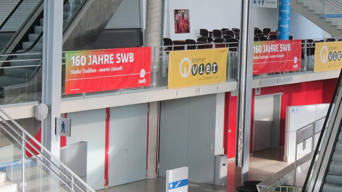 Anka Werbung - Messebau Bremen - Werbetechnik Banner - Plane Geländer