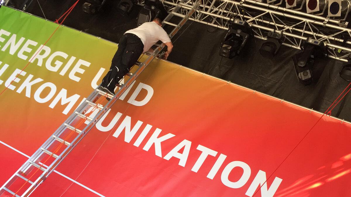 Anka Werbung - Messebau Bremen - Werbetechnik Banner - Plane Event