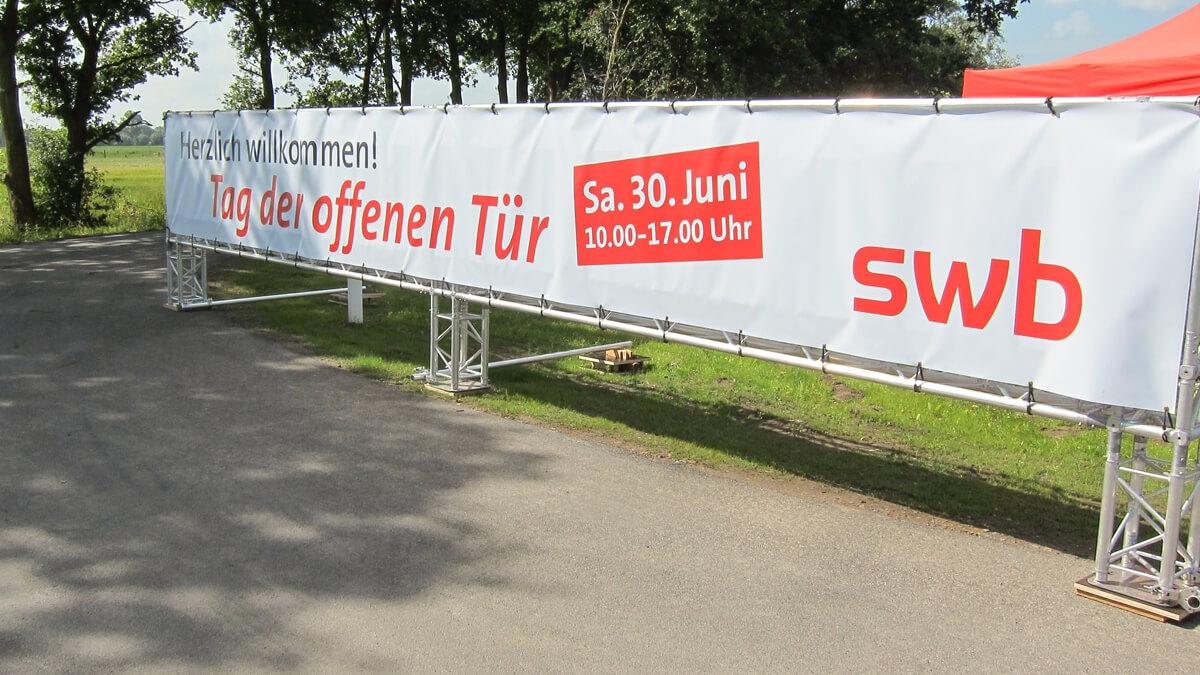 Anka Werbung - Messebau Bremen - Werbetechnik Banner - Plane Traverse
