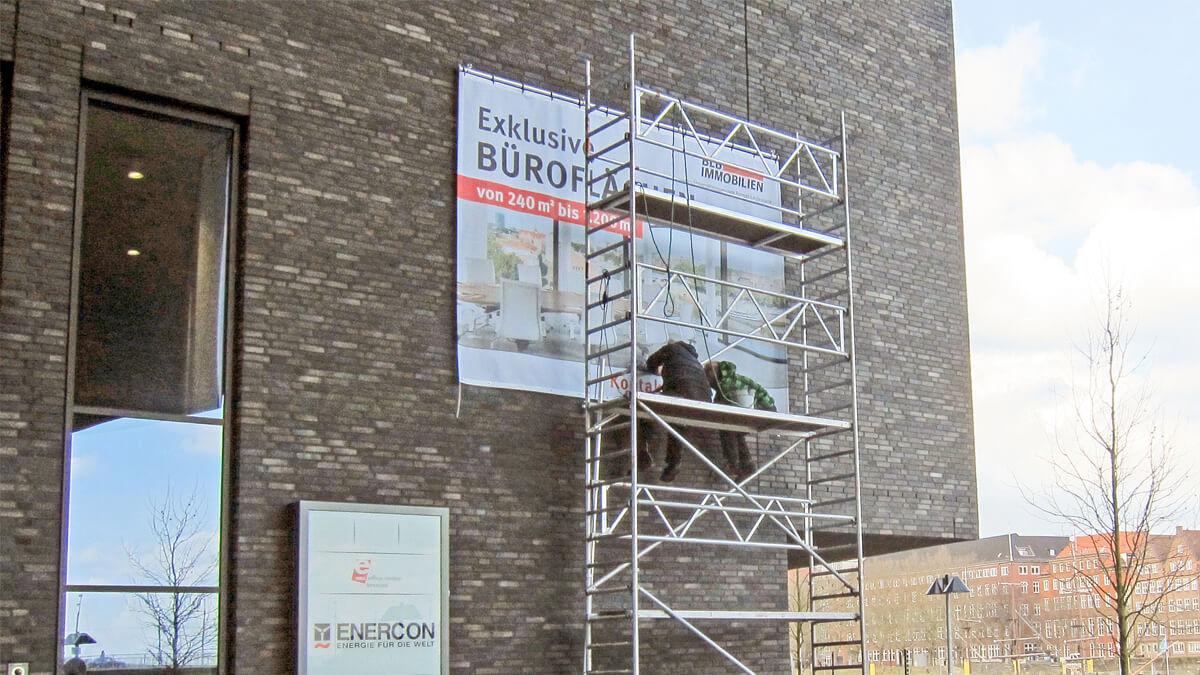 Anka Werbung - Messebau Bremen - Werbetechnik Banner - Fassadenbanner