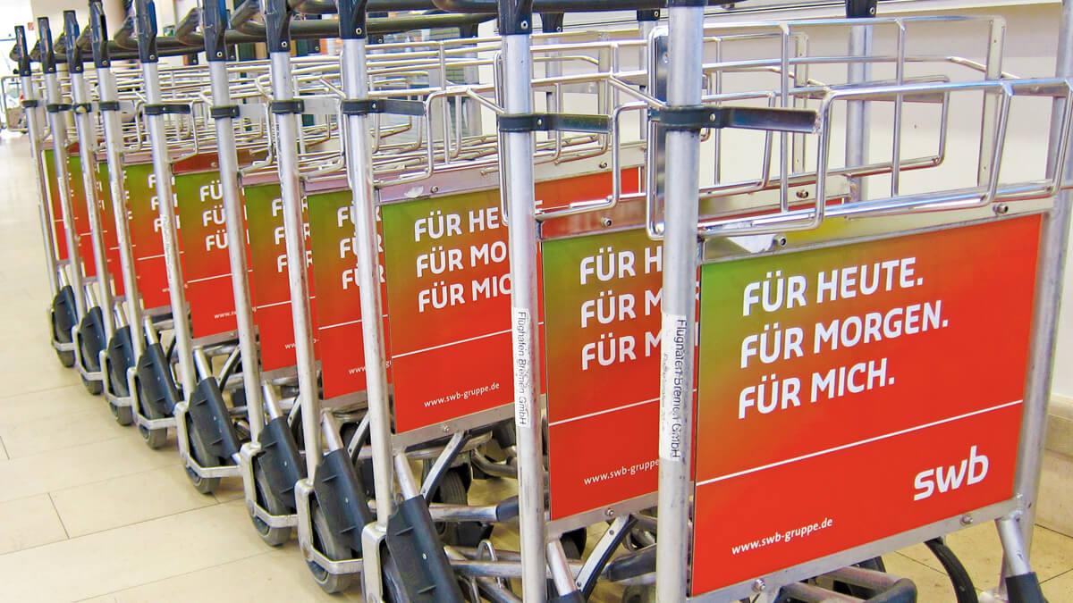 Anka Werbung - Messebau Bremen - Werbetechnik Beklebungen - Trolly