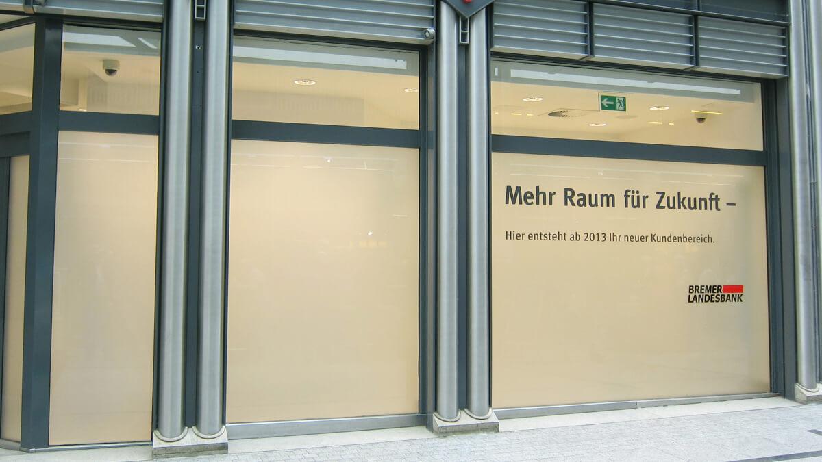 Anka Werbung - Messebau Bremen - Werbetechnik Beklebungen - Sichtschutz Fenster