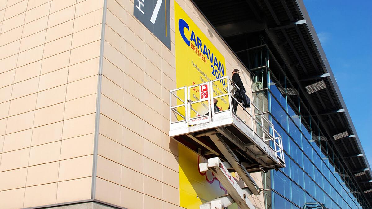 Anka Werbung - Messebau Bremen - Werbetechnik Beklebungen - Fassade Event