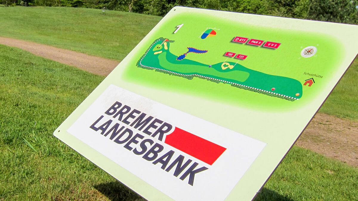 Anka Werbung - Messebau Bremen - Werbetechnik Beschilderung - Lageplan (Golfplatz)
