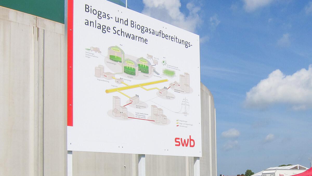 Anka Werbung - Messebau Bremen - Werbetechnik Beschilderung - Lageplan (Biogasanlage)