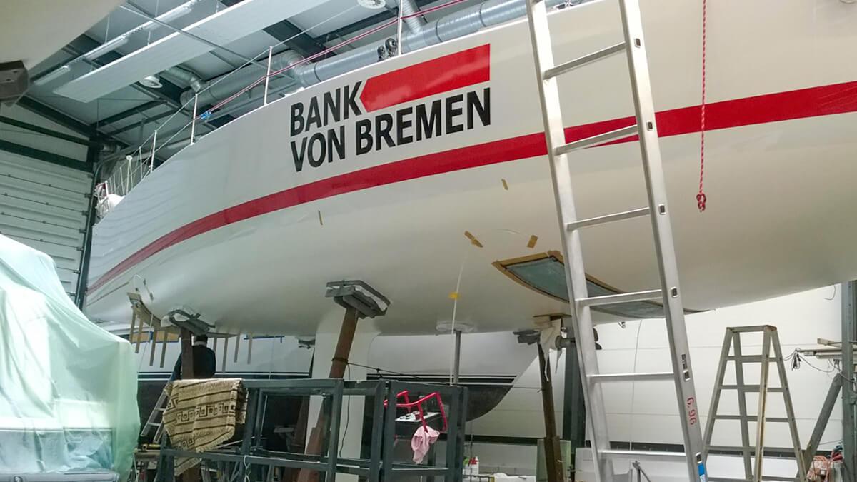 Anka Werbung - Messebau Bremen - Werbetechnik Fahrzeugbeschriftung - Segelboot
