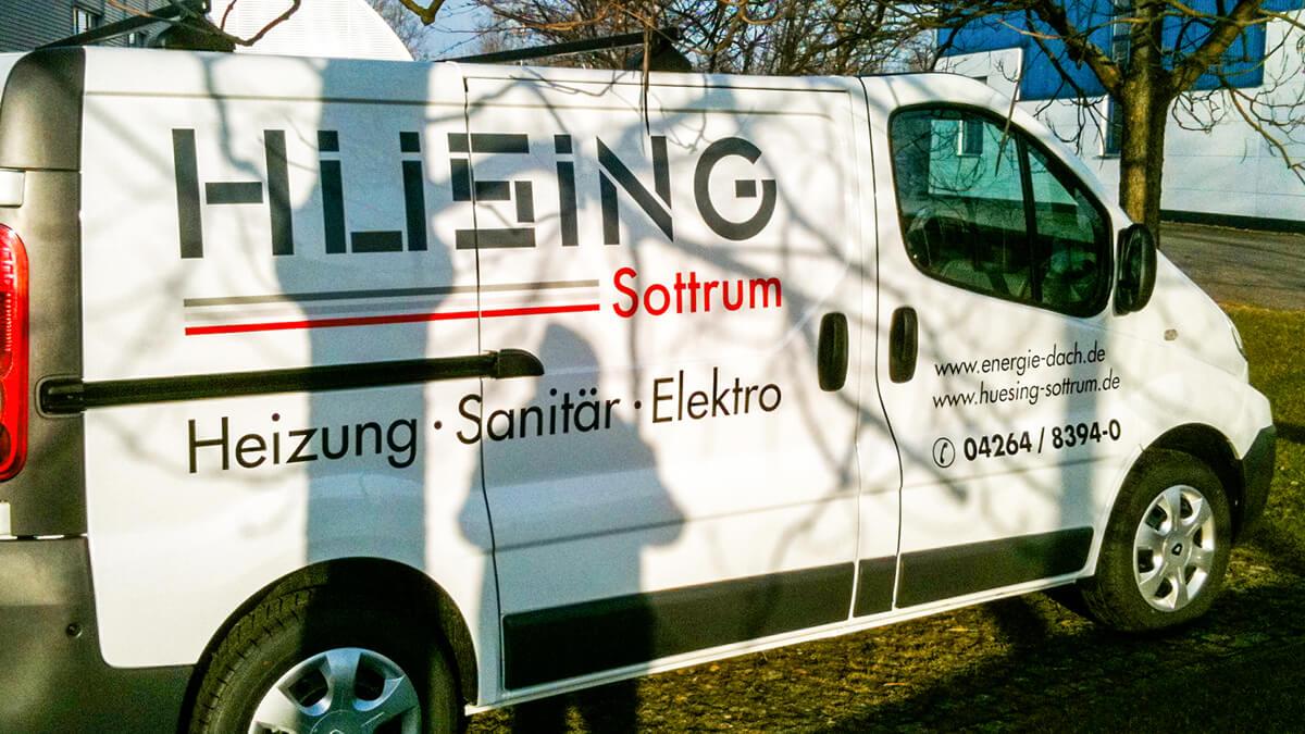 Anka Werbung - Messebau Bremen - Werbetechnik Fahrzeugbeschriftung - Transporter Beifahrerseite