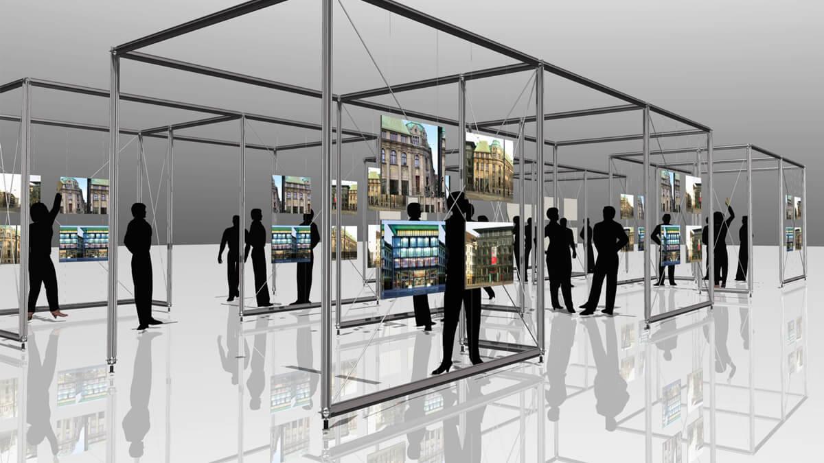 Anka Werbung - Messebau Bremen - Ausstellungen - Ausstellungskonzept (BLB Architektenwettbewerb)