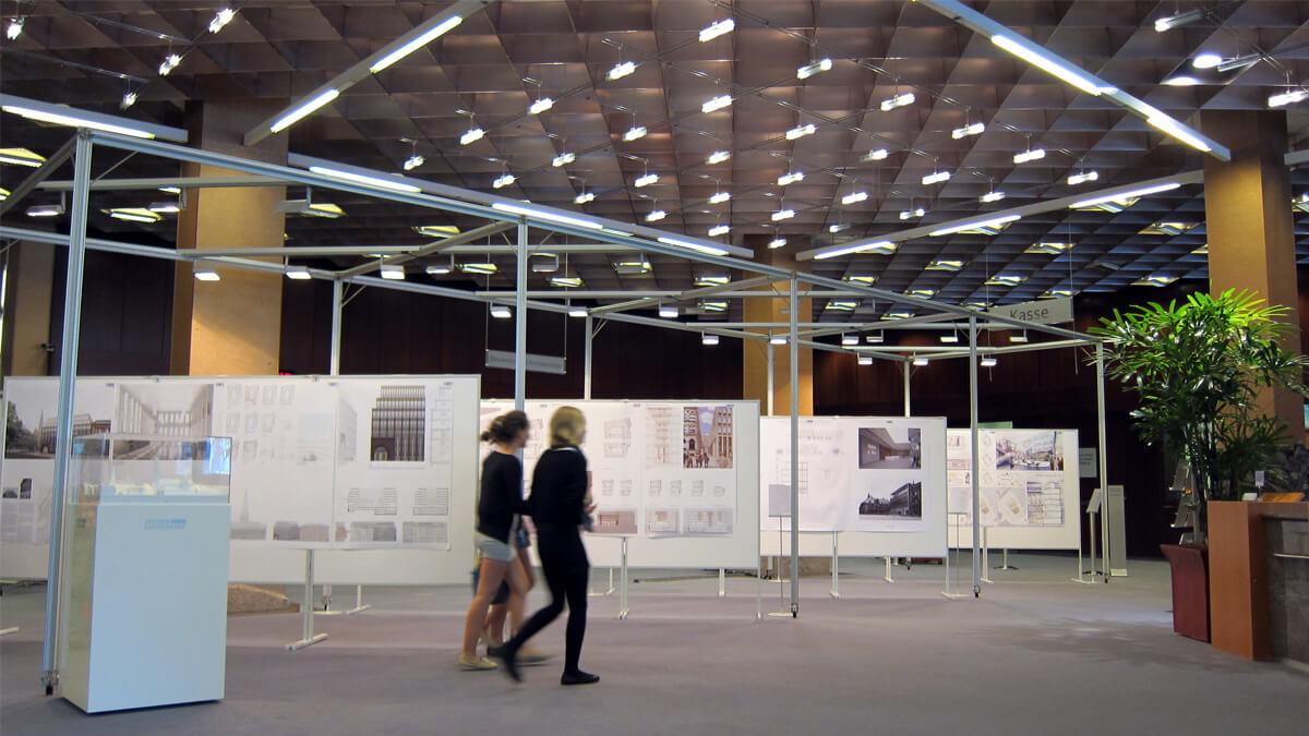 Anka Werbung - Messebau Bremen - Ausstellungen - Displaywand (BLB Architektenwettbewerb)