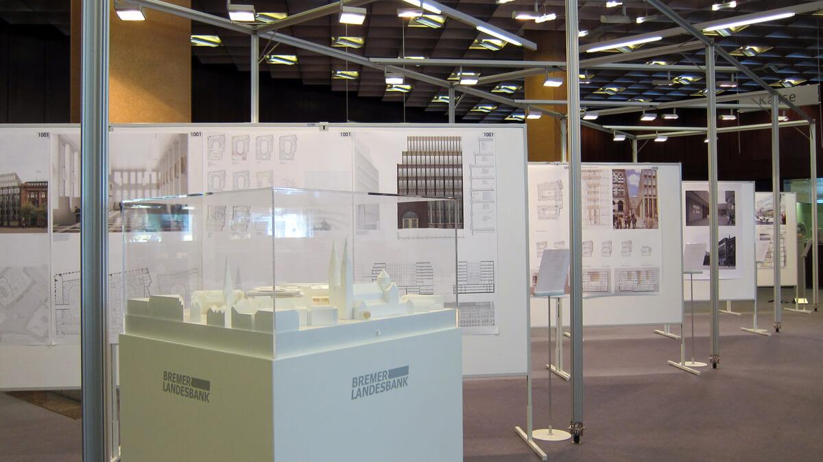 Anka Werbung - Messebau Bremen - Ausstellungen - Expowand (BLB Architektenwettbewerb)