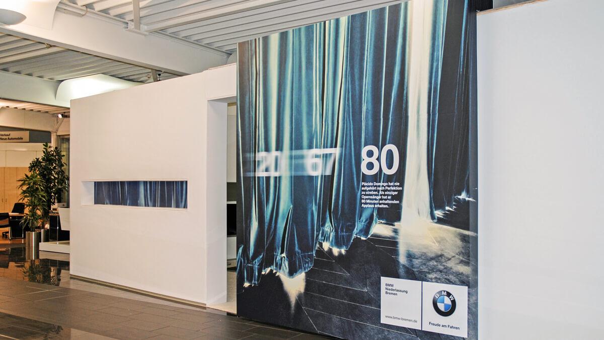 Anka Werbung - Messebau Bremen - Ausstellungen - Präsentationsraum (BMW Präsentation)