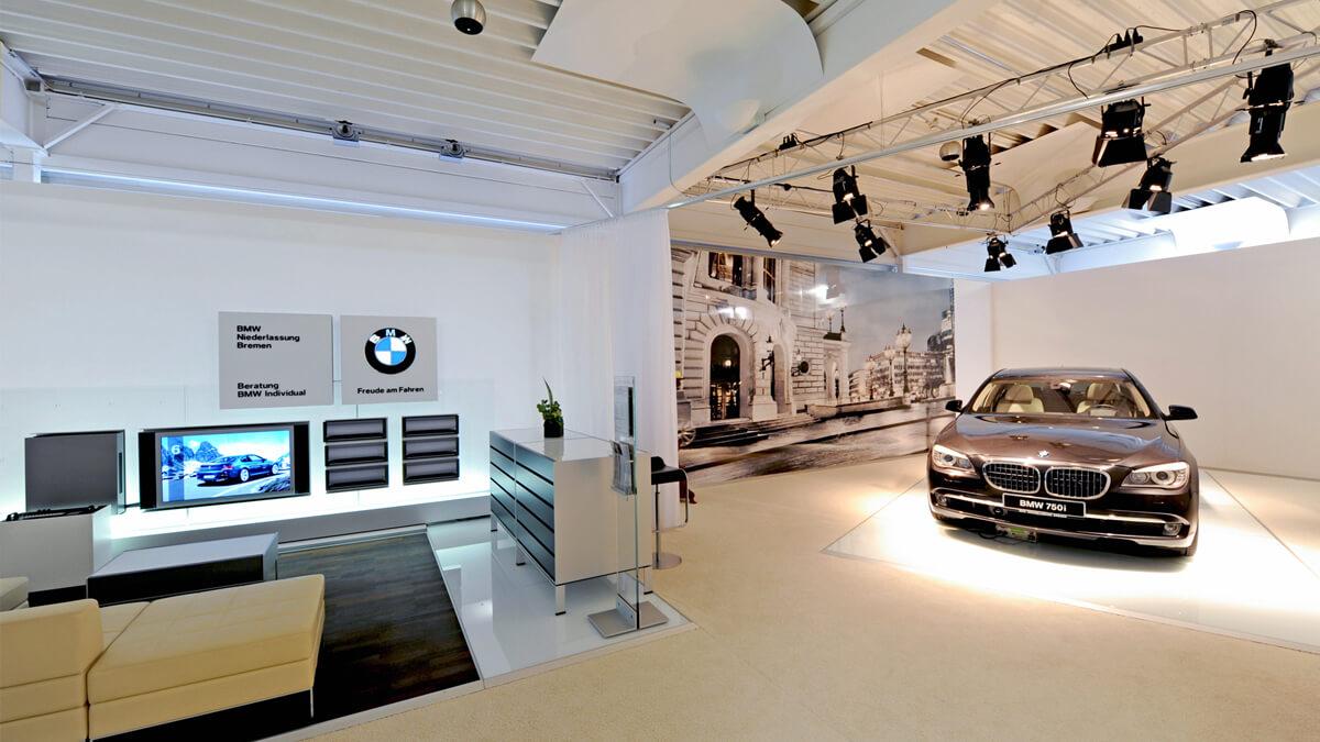 Anka Werbung - Messebau Bremen - Ausstellungen - Modellpräsentation (BMW Präsentation)