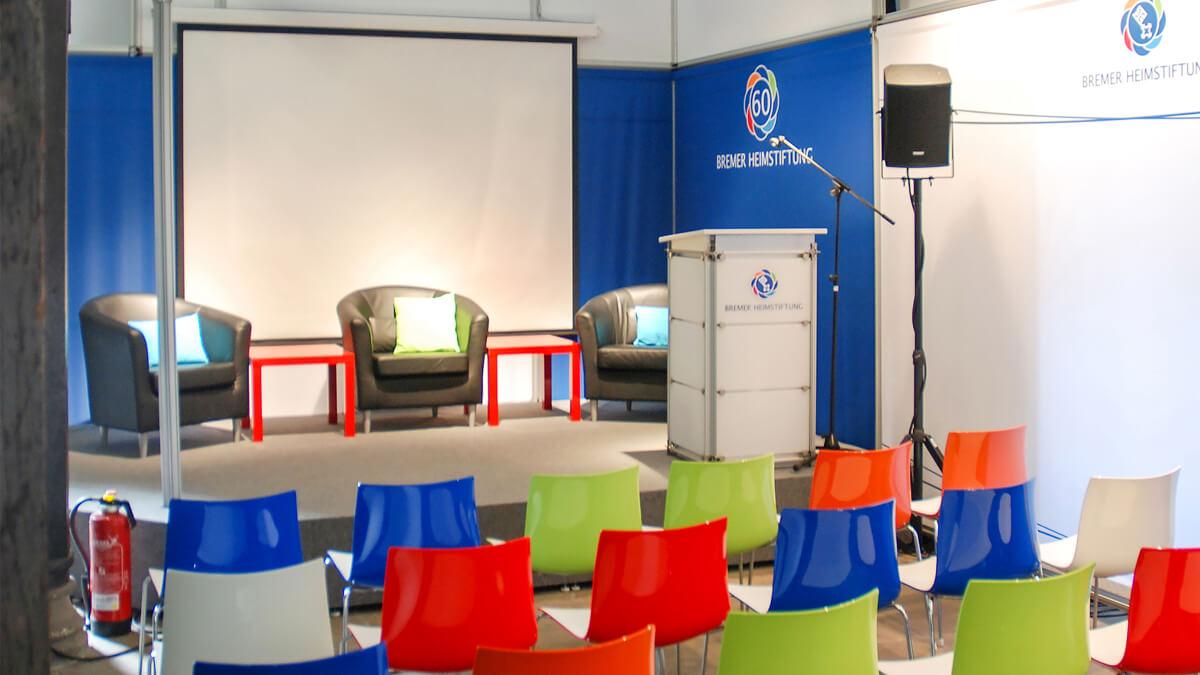Anka Werbung - Messebau Bremen - Ausstellungen - Podium (Bremer Heimstiftung)