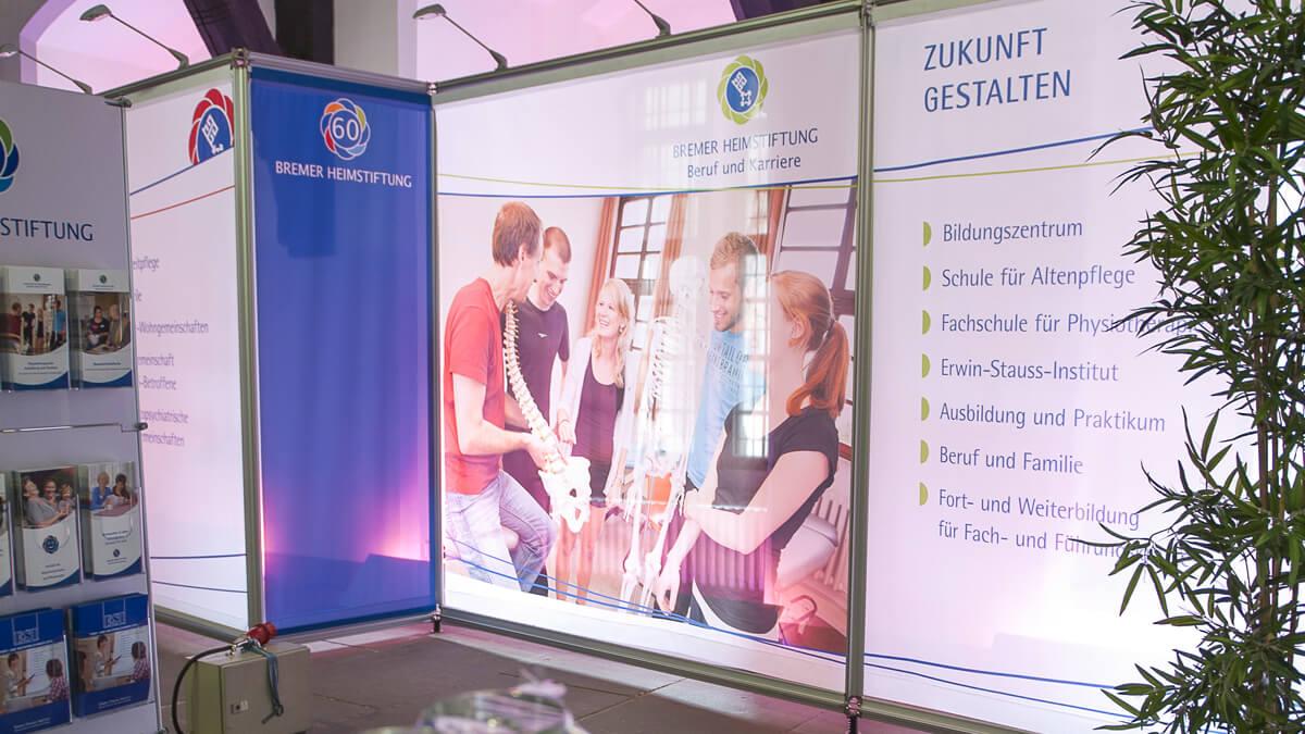 Anka Werbung - Messebau Bremen - Ausstellungen - Textil Spannrahmen (Bremer Heimstiftung)