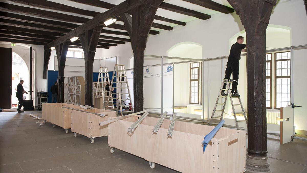 Anka Werbung - Messebau Bremen - Ausstellungen - Aufbau Standwände (Bremer Heimstiftung)