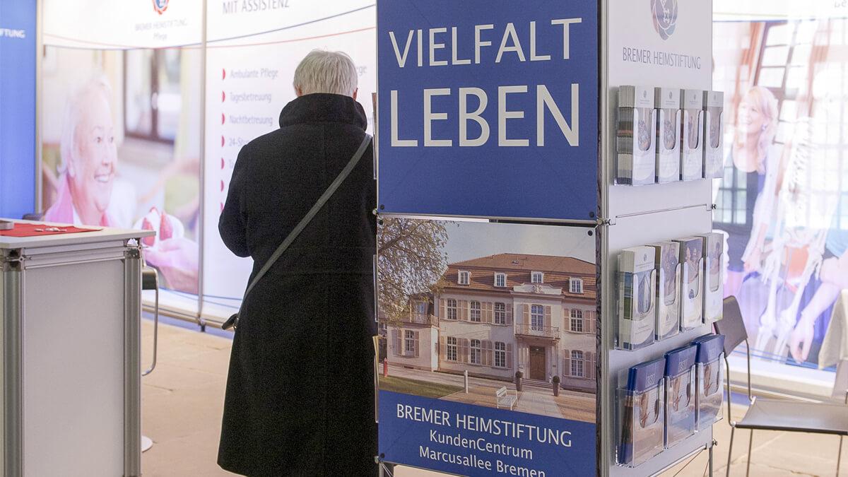 Anka Werbung - Messebau Bremen - Ausstellungen - Prospekthalter (Bremer Heimstiftung)