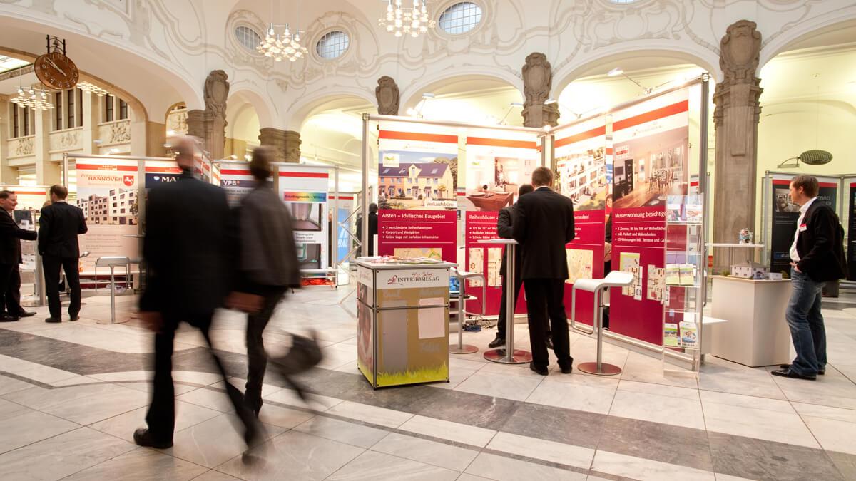 Anka Werbung - Messebau Bremen - Ausstellungen - Expowände (Sparkasse Bremer Immobilientage 2011)