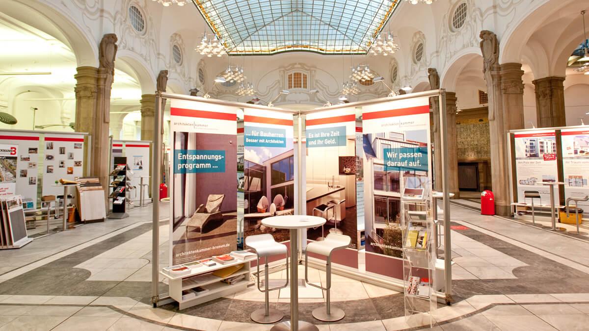 Anka Werbung - Messebau Bremen - Ausstellungen - Sektion (Sparkasse Bremer Immobilientage 2011)