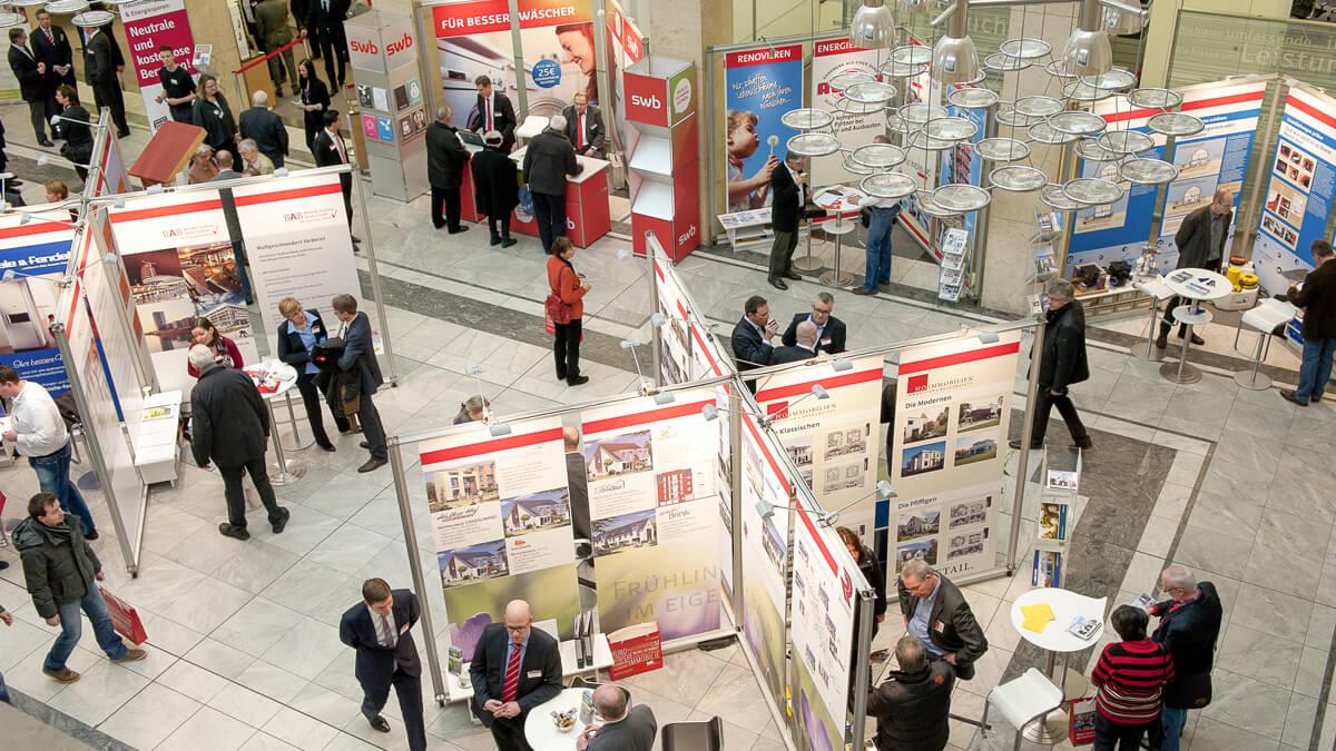Anka Werbung - Messebau Bremen - Ausstellungen - Sammelstand (Sparkasse Bremer Immobilientage 2011)
