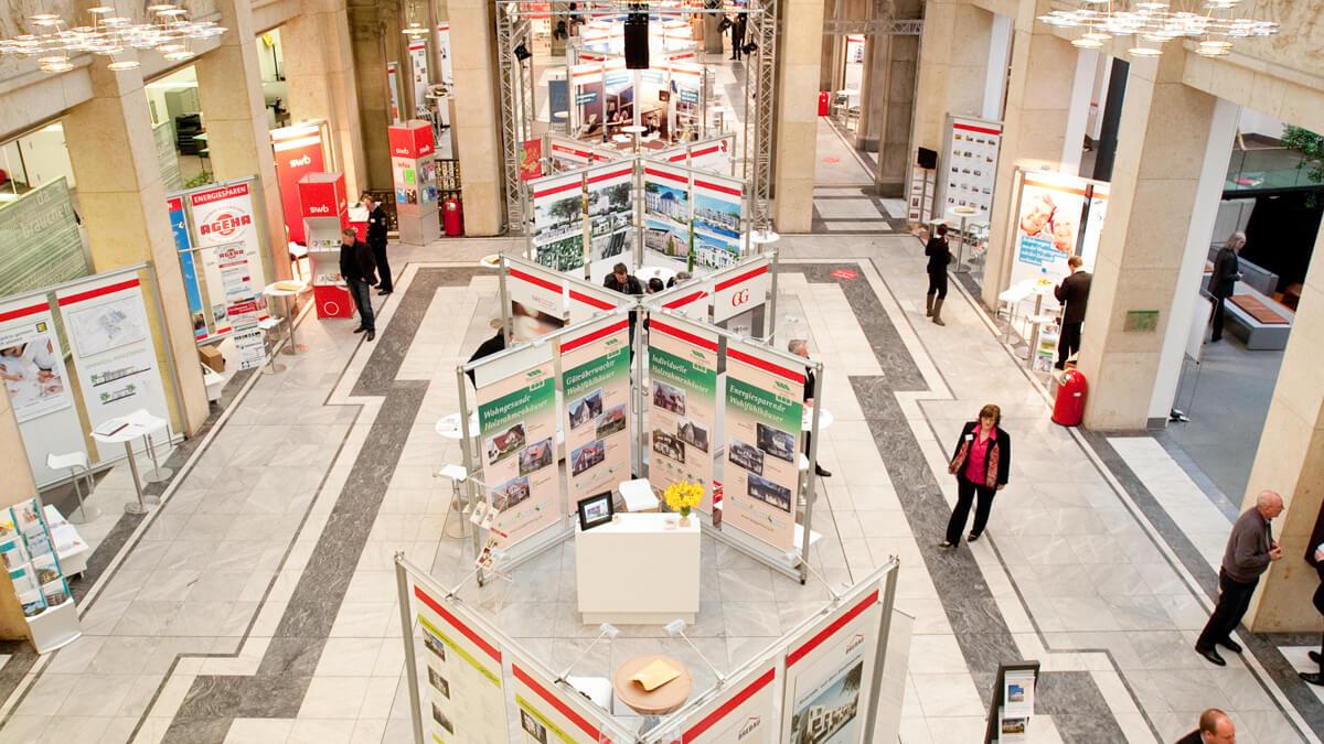 Anka Werbung - Messebau Bremen - Ausstellungen - Systemstand (Sparkasse Bremer Immobilientage 2011)