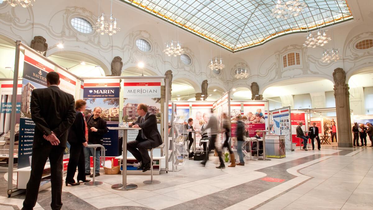 Anka Werbung - Messebau Bremen - Ausstellungen - Spannrahmen (Sparkasse Bremer Immobilientage 2011)