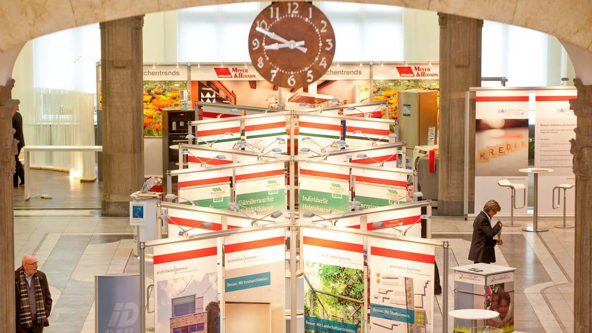 Anka Werbung - Messebau Bremen - Ausstellungen - Topansicht (Sparkasse Bremer Immobilientage 2011)