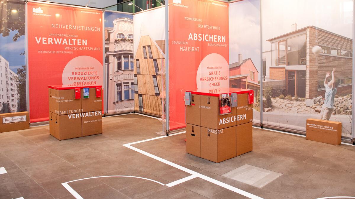 Anka Werbung - Messebau Bremen - Ausstellungen - Prospekthalter (Sparkasse Bremer Immobilientage 2012)