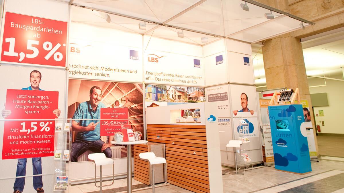 Anka Werbung - Messebau Bremen - Ausstellungen - Beleuchtung (Sparkasse Bremer Immobilientage 2012)