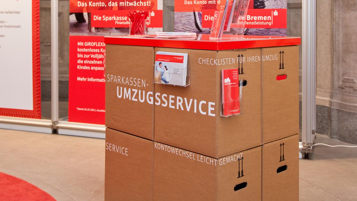 Anka Werbung - Messebau Bremen - Ausstellungen - Displayelemente (Sparkasse Bremer Immobilientage 2012)
