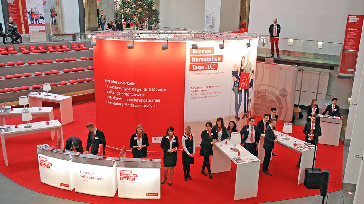 Anka Werbung - Messebau Bremen - Ausstellungen - Individuelle Architektur (Sparkasse Bremer Immobilientage 2015)