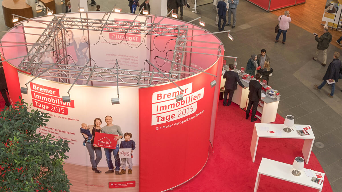 Anka Werbung - Messebau Bremen - Ausstellungen - Oval Detail (Sparkasse Bremer Immobilientage 2015)