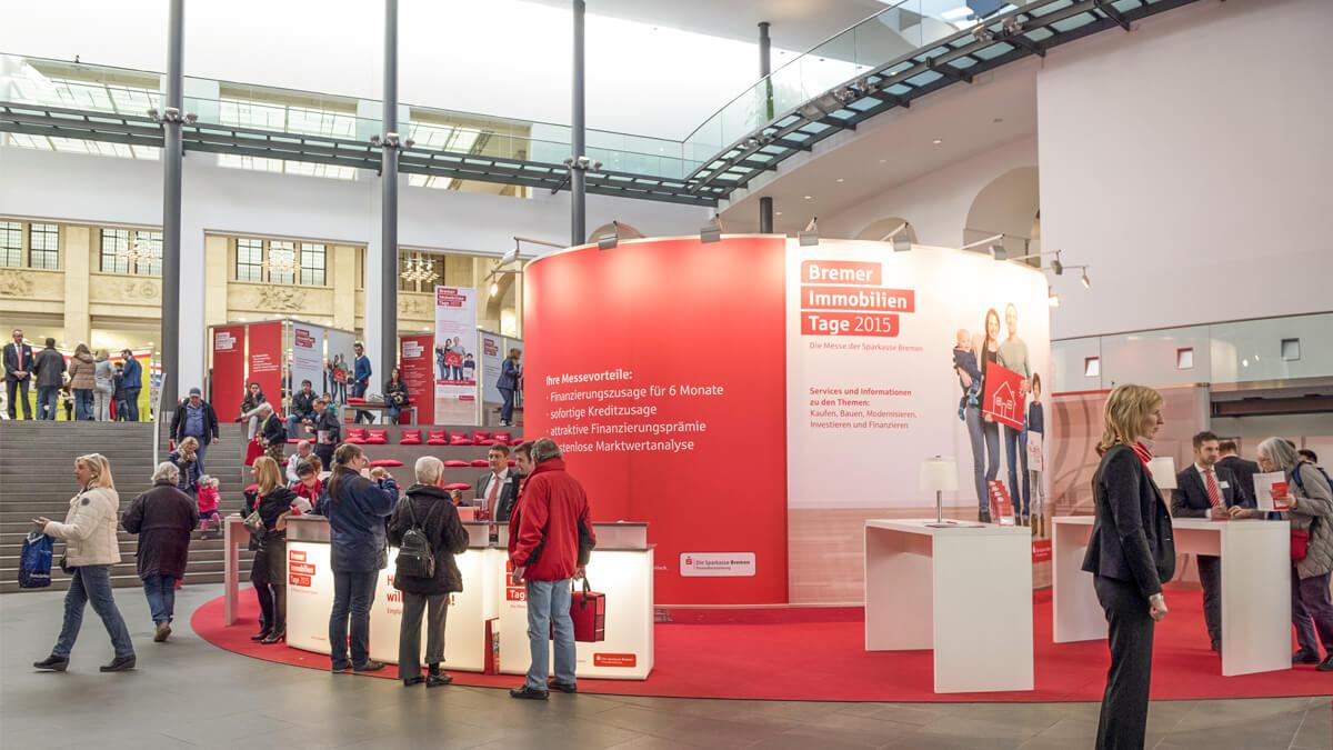 Anka Werbung - Messebau Bremen - Ausstellungen - Individualstand (Sparkasse Bremer Immobilientage 2015)