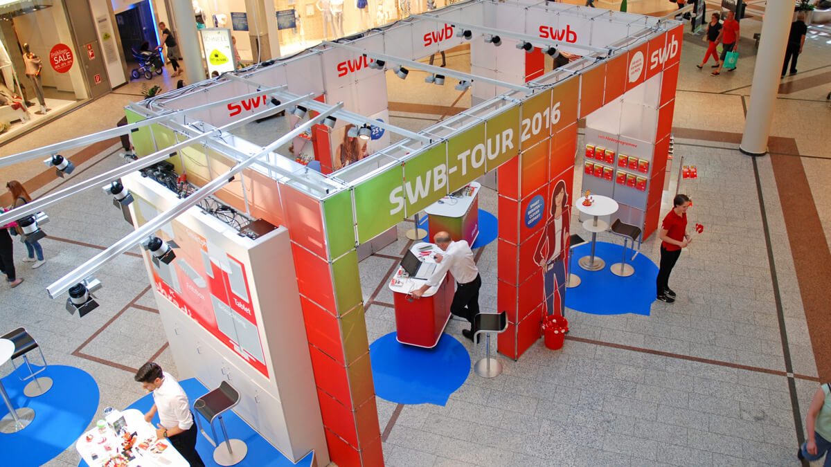 Anka Werbung - Messebau Bremen - Ausstellungen - Individualstand (swb Tour)