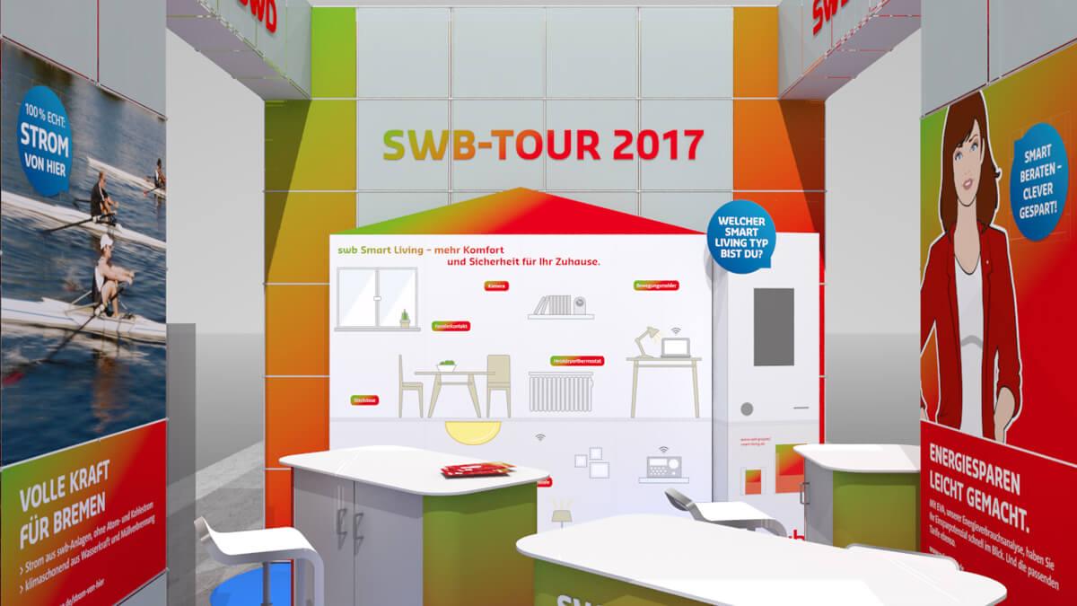 Anka Werbung - Messebau Bremen - Ausstellungen - Standplanung (swb Tour)