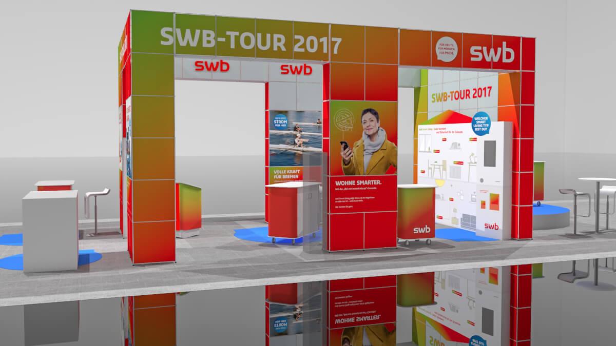 Anka Werbung - Messebau Bremen - Ausstellungen - Visualisierung (swb Tour)