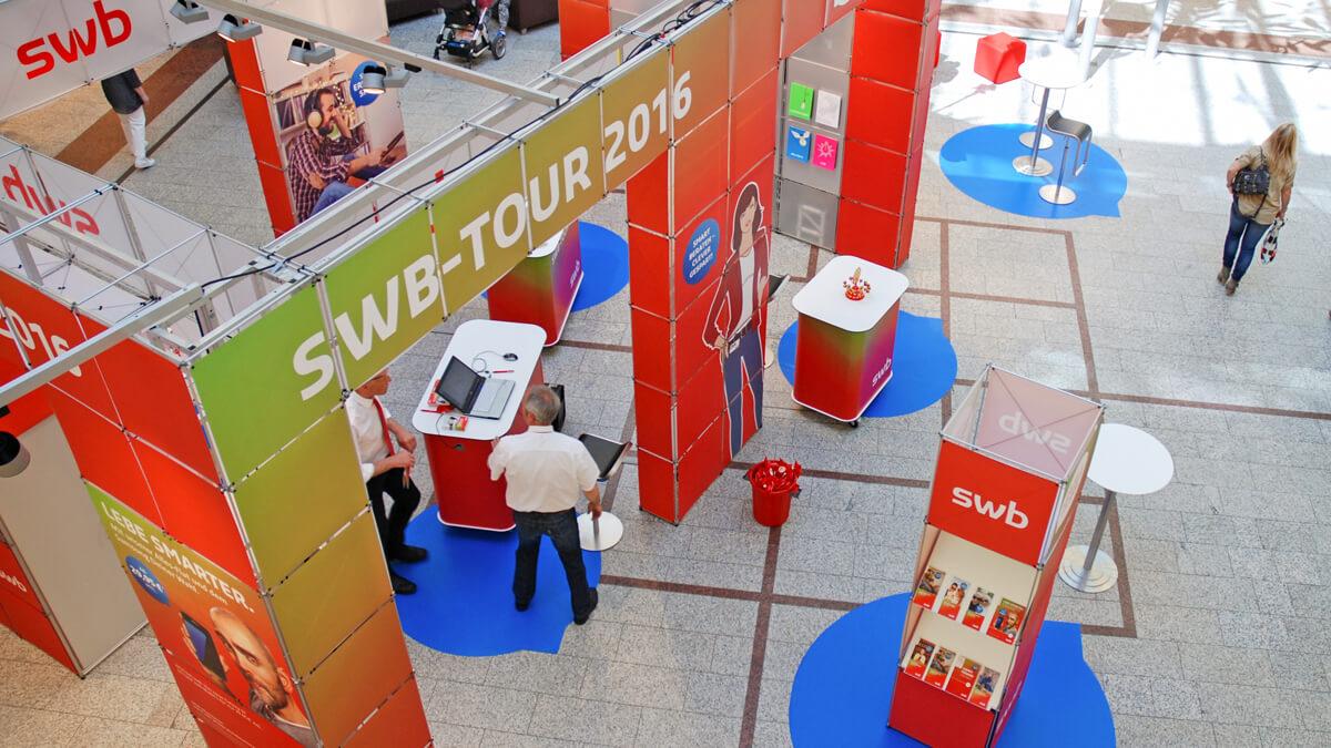 Anka Werbung - Messebau Bremen - Ausstellungen - Topansicht (swb Tour)