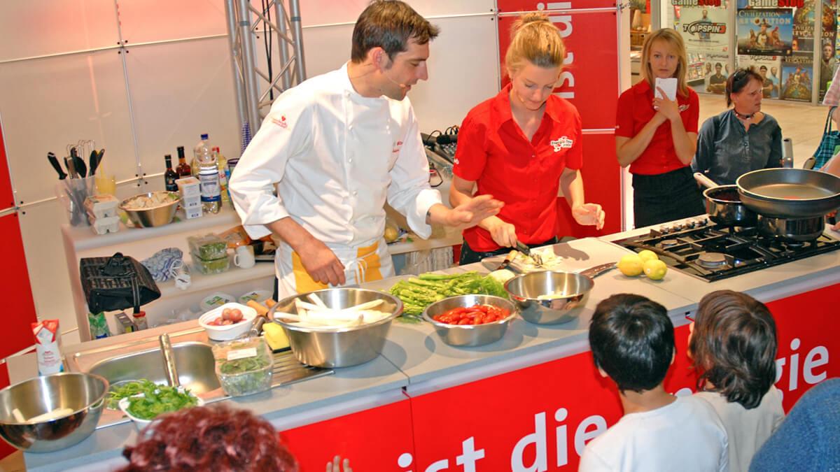 Anka Werbung - Messebau Bremen - Ausstellungen - Live-Küche (swb Tour)