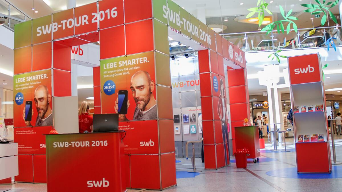 Anka Werbung - Messebau Bremen - Ausstellungen - Individuelle Standarchitektur (swb Tour)