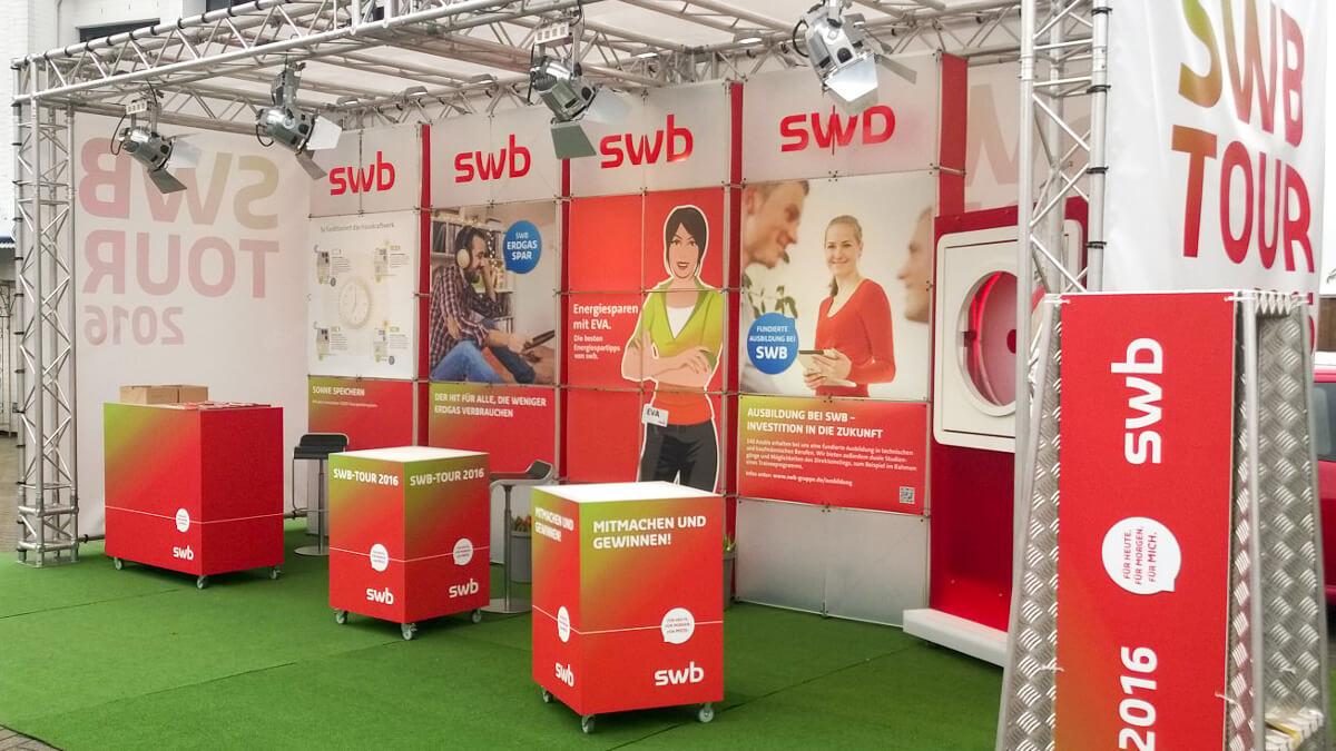 Anka Werbung - Messebau Bremen - Ausstellungen - Outdoor Stand (swb Tour)