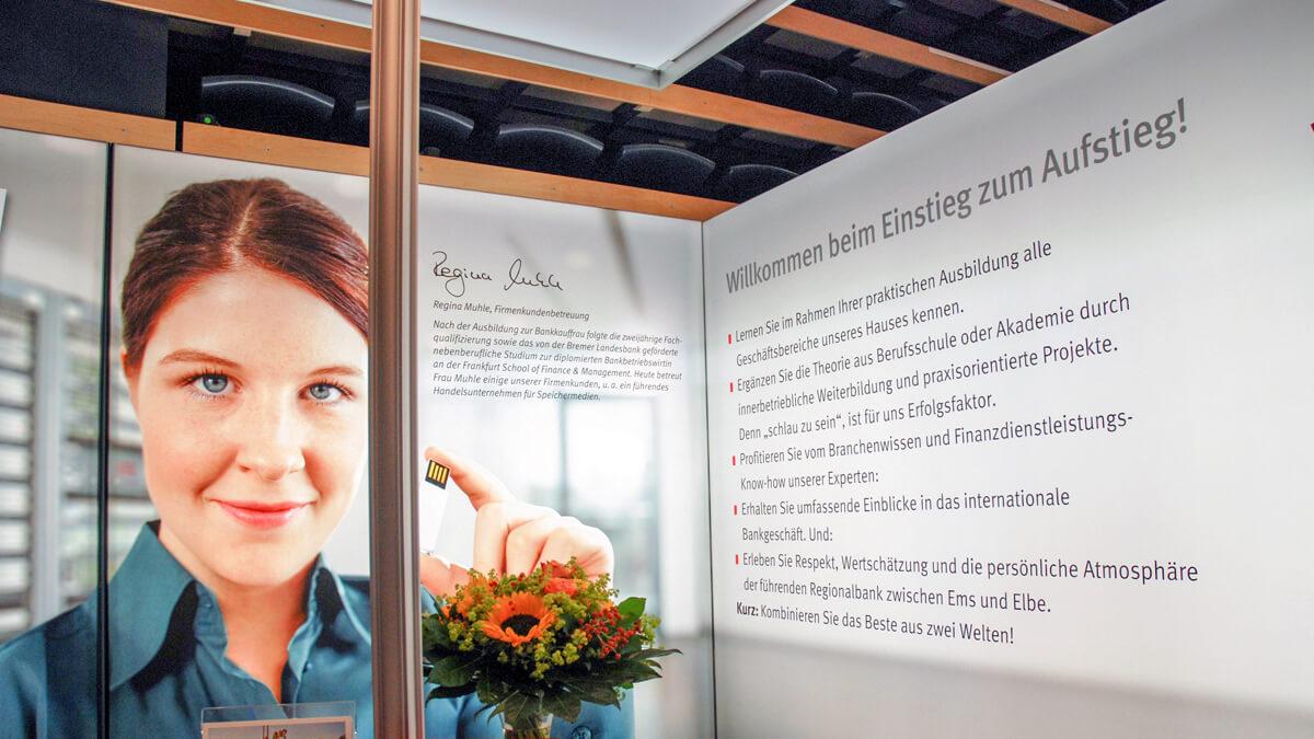 Anka Werbung - Messebau Bremen - Messebau - Messewand (BLB Jobmesse)