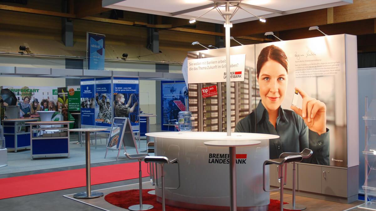 Anka Werbung - Messebau Bremen - Messebau - Individualstand (BLB Jobmesse)
