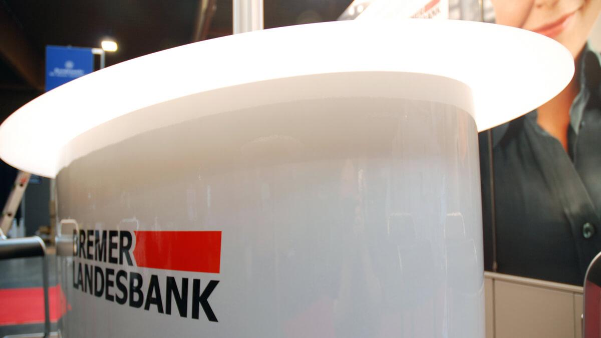 Anka Werbung - Messebau Bremen - Messebau - Tresen (BLB Jobmesse)