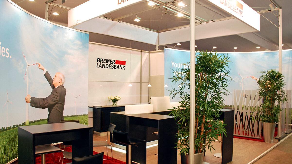 Anka Werbung - Messebau Bremen - Messebau - Messestand (BLB Windenergie)