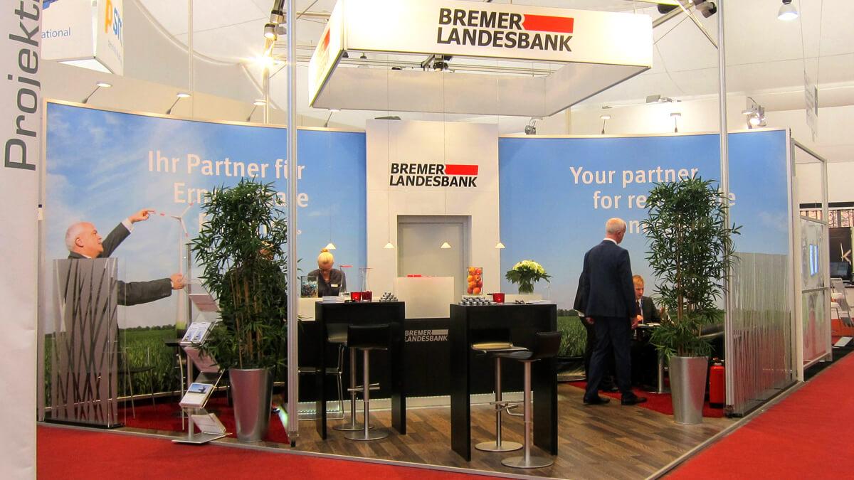 Anka Werbung - Messebau Bremen - Messebau - Individualstand (BLB Windenergie)